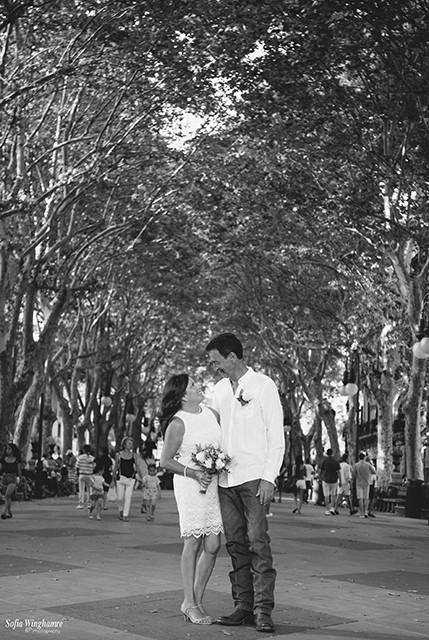 City wedding in Palma de Mallorca