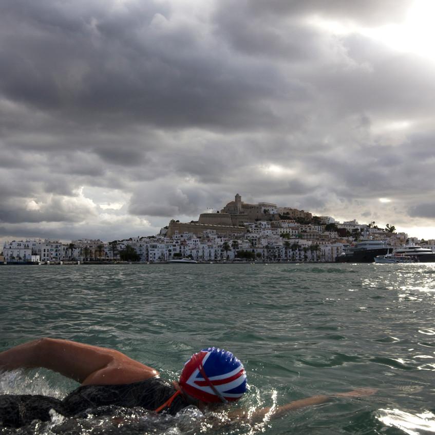 Swimming in Ibiza