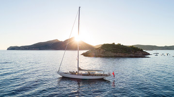 sailing yacht, drone photography