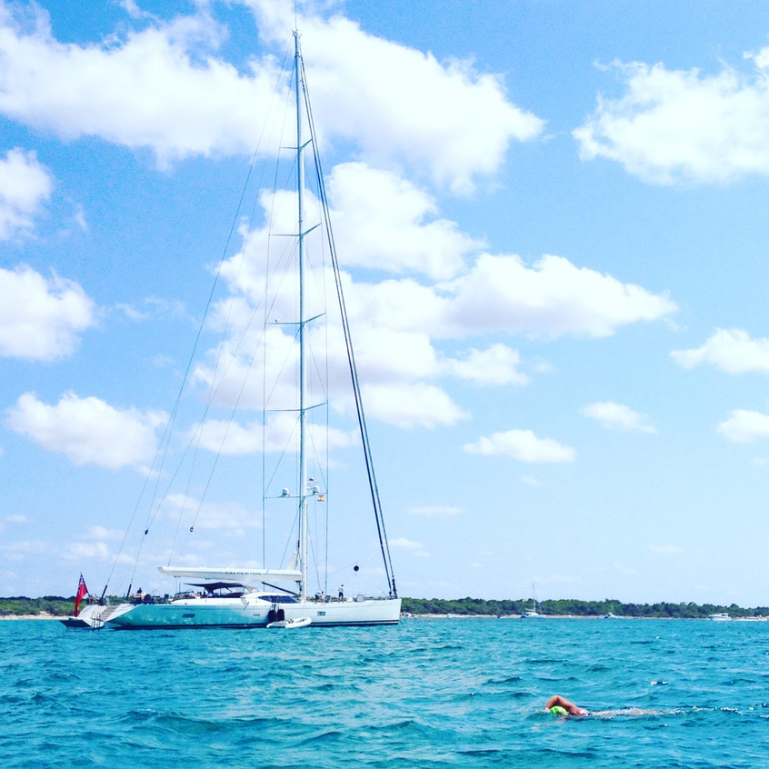 Yacht on anchor
