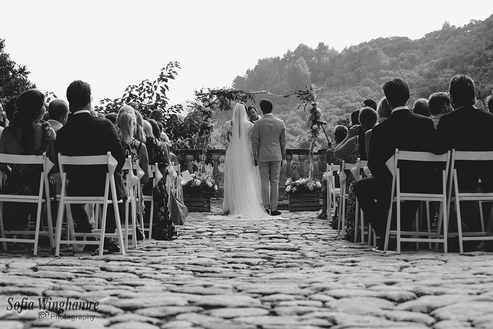 Wedding ceremony photographed in Mallorca