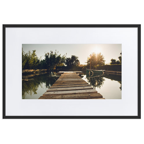Matte Paper Framed Poster With Mat