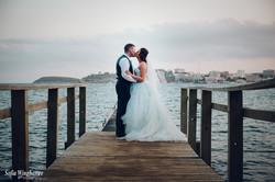 Sunset wedding kisses in Mallorca