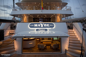 Photographed during the Super Yacht Show in Mallorca