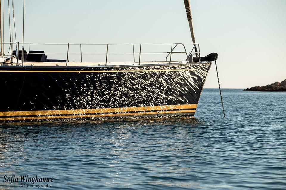 yacht at anchor in mallorca