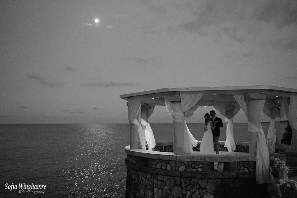 Moon light wedding photography