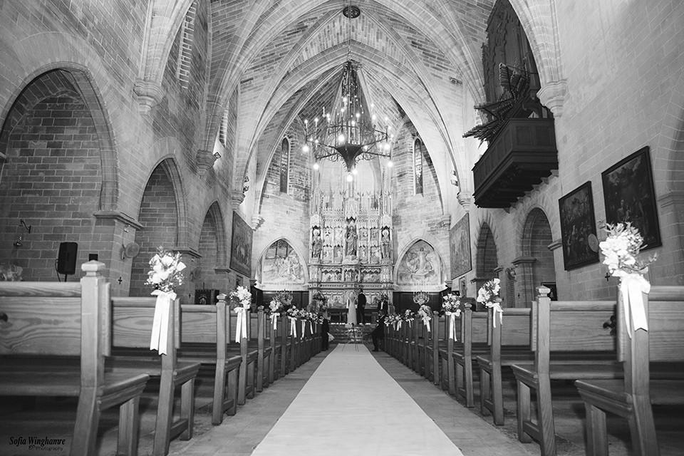 The church photographed, Alcudia, Mallorca