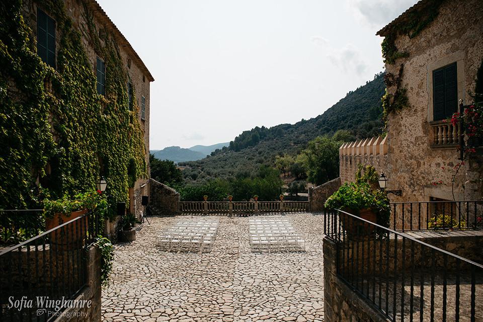 Mallorca venue ready for a wedding ceremoni