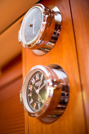 Details photographed onboard a sailing yacht