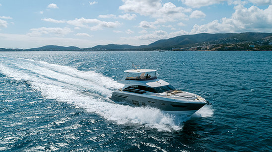 otor yacht photographed with drone