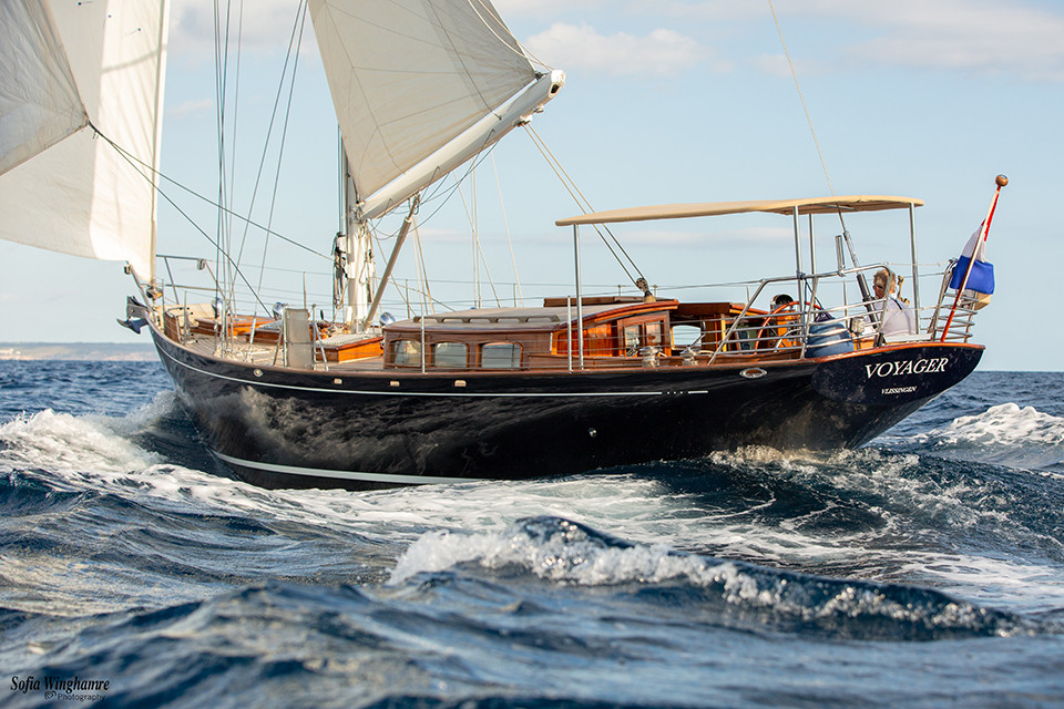 Sailing yacht photographed in Mallorca