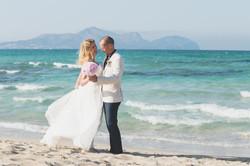 Beach wedding in Mallorca