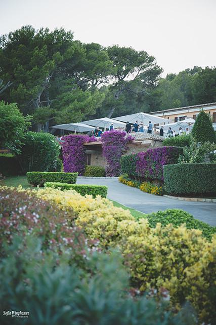 Beautiful Mallorca summer garden, perfect wedding venue