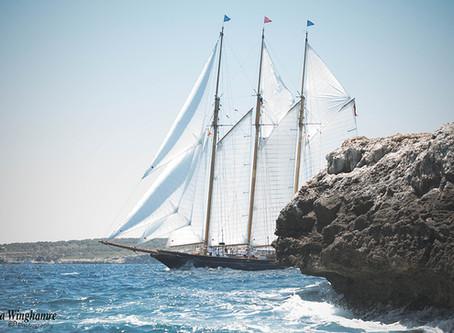 Sailing in the bay of Palma