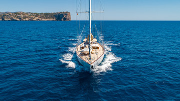 sailing yacht drone photography