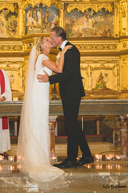First kiss as married