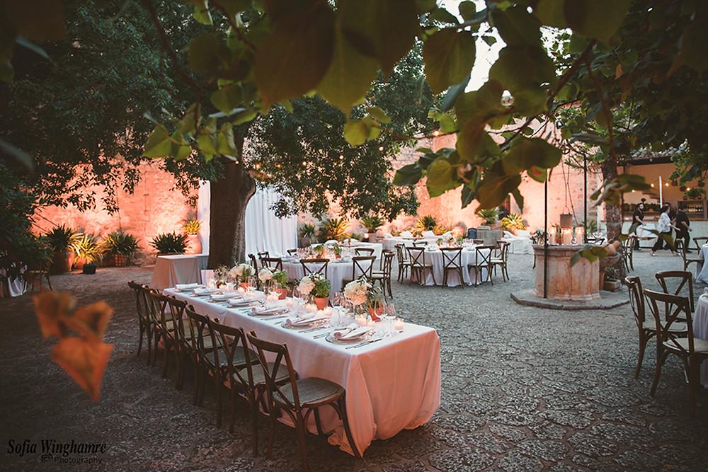 the wedding venue is ready