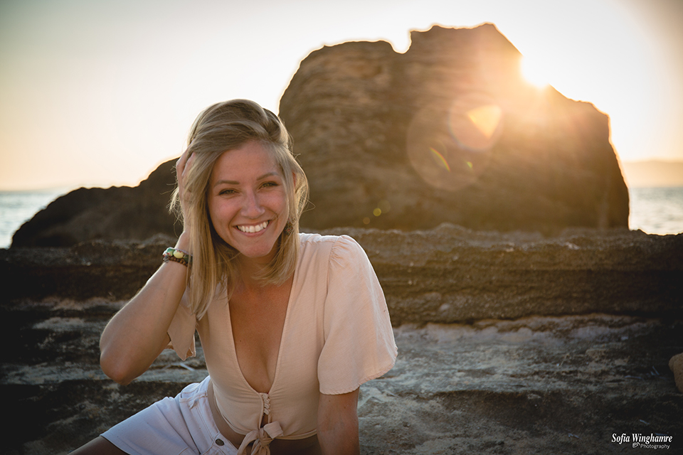 Sunset portrait in Mallorca