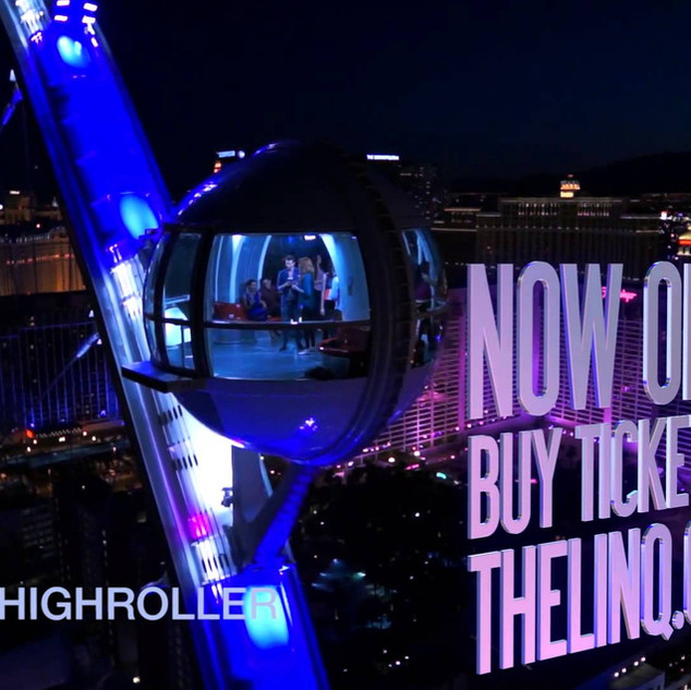 High Roller Aerial Content for Levy Productions