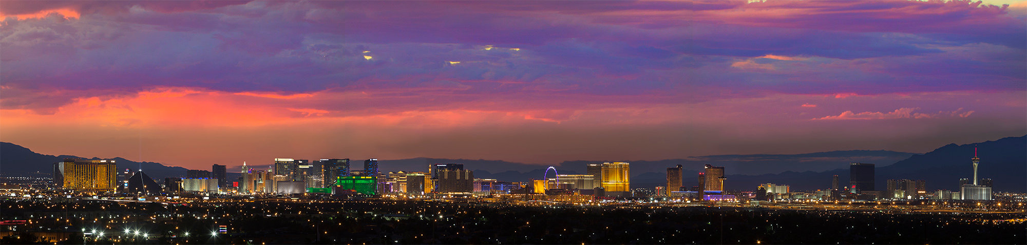 Las Vegas strip at twilight by Erin OBoyle