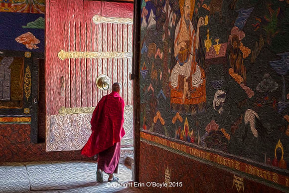 Monk at Temple Door