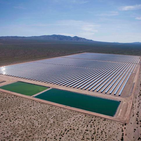 Solar One Facility at El Dorado  Dry Lake Bed