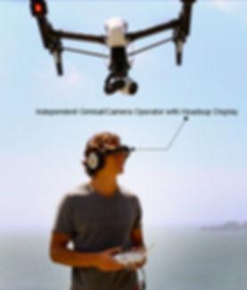Avant Glyph Headset with camera gimbal operator