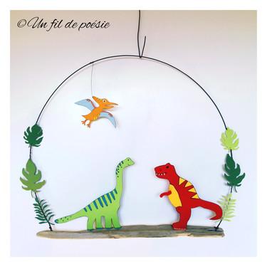 décoration murale les dinosaures