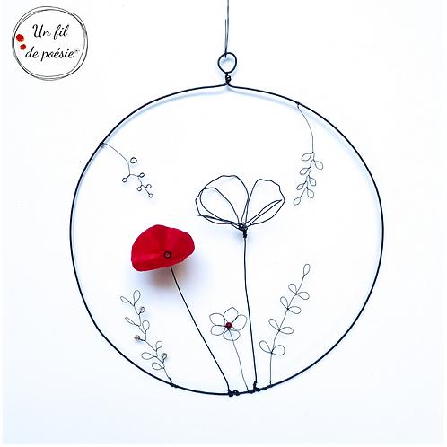suspension au fil des fleurs