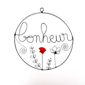 Suspension bonheur florale