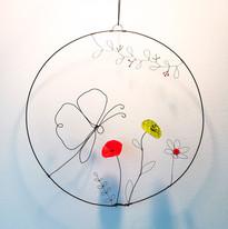 le papillon et les fleurs
