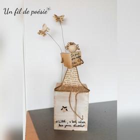 Sculpture la lectrice