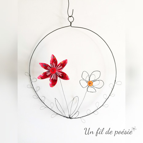 Suspension origami florale