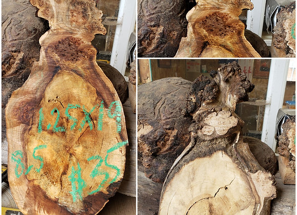 (D26) Maple burl +spalted, 1 piece. Air dried. Pickup or shipping