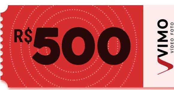 Vale Presente R$ 500,00 - Filmagem e Fotografo de Casamento e 15 anos