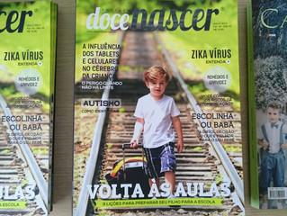 Ensaio da Vimo na capa da revista Doce Nascer.