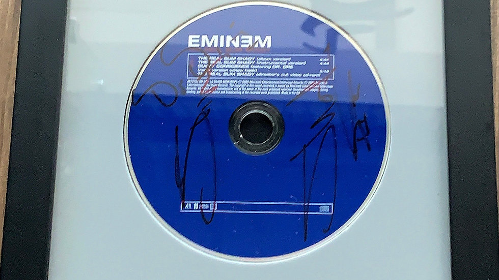 The Real Slim Shady Promotional CD Autographed by Slim Shady & Dr.Dre