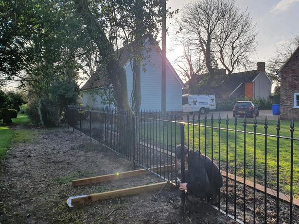 Traditional Iron Railing Installation