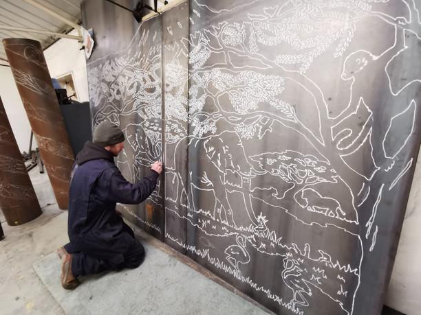 Hand Drawn Artisan Gate