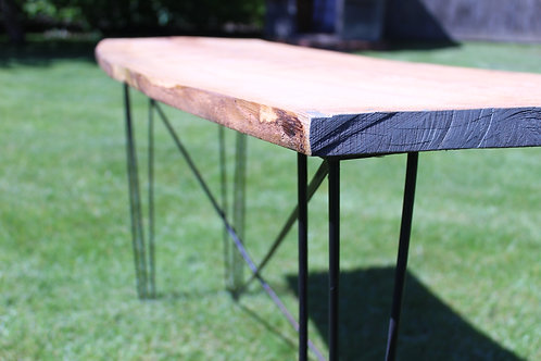 Living Edge Hairpin Table
