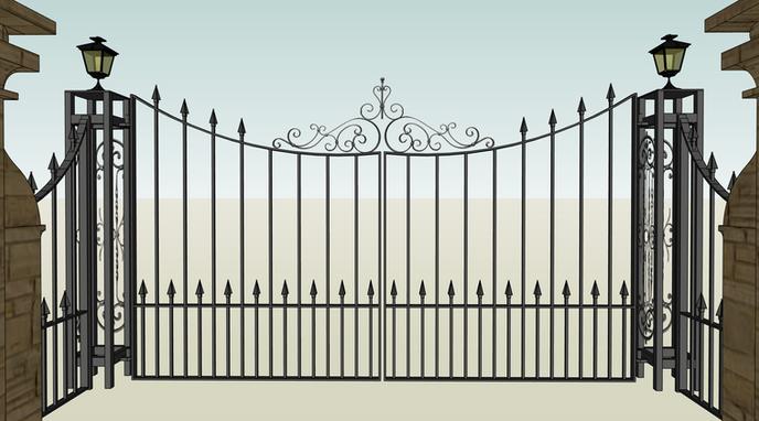 Driveway Gate CAD Drawing