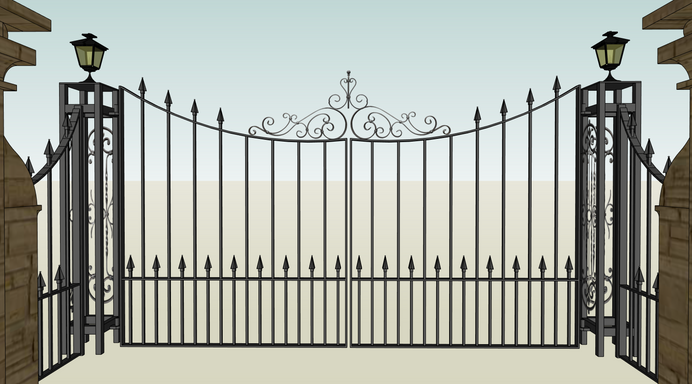 Double Driveway Gate CAD