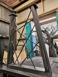 Crosshatch Metal Table Legs