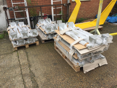 Gate Posts Wrapped and Packaged Ready for Delivery