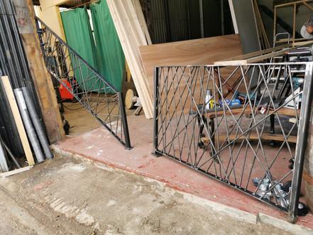 Crosshatch Interior Metal Railings