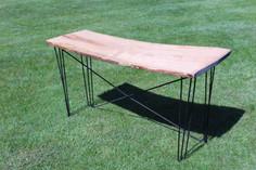 Living Edge Hairpin Table