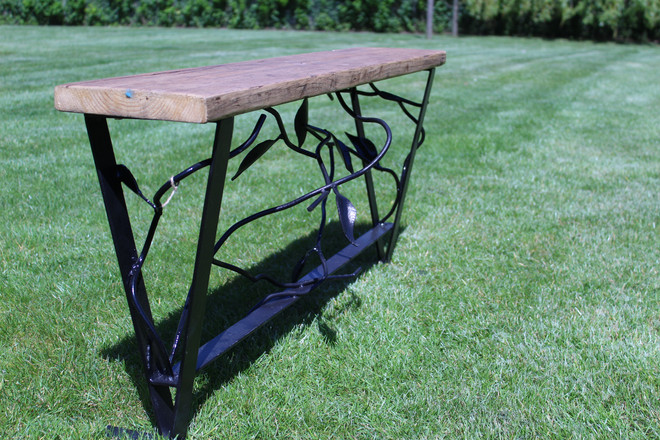 Bespoke and Decorative Metal Garden Bench