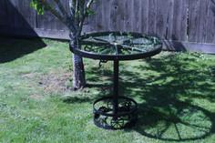 Waggon Wheel Table