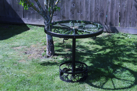 Waggon Wheel Table