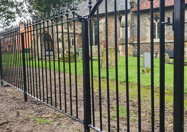 Gothic Theme Gate and Railings